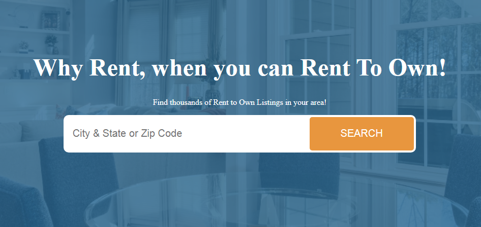 Rent-to-own homes